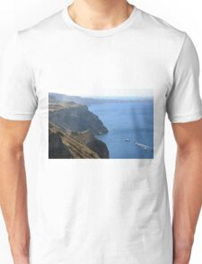 The Aegean Sea in Santorini and the volcanic islands Unisex T-Shirt