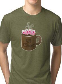 cute hot chocolate with marshmallows Tri-blend T-Shirt