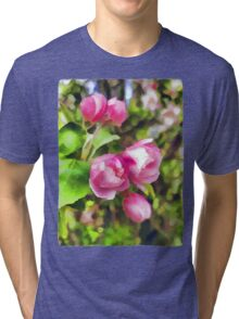 Pink Blossoms of Spring Tri-blend T-Shirt