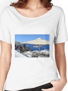 20 September 2016 Terrace in Santorini, Greece Women's Relaxed Fit T-Shirt