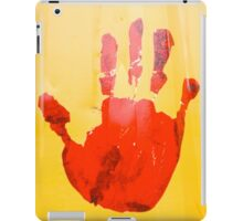 A red hand iPad Case/Skin