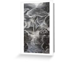 Oil Storm Greeting Card