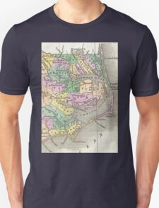 Outer Banks and Eastern North Carolina Map (1827)  Unisex T-Shirt
