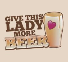 Give this lady more BEER! by jazzydevil