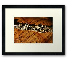 Clarinet Notes Framed Print