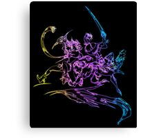 °FINAL FANTASY° Final Fantasy X-2 Neon Logo Canvas Print