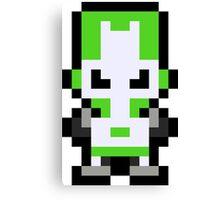 Pixel Green Knight Canvas Print