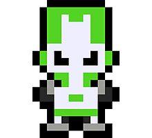 Pixel Green Knight Photographic Print