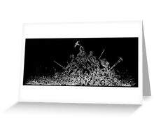 °FINAL FANTASY° Final Fantasy XI B&W Logo Greeting Card