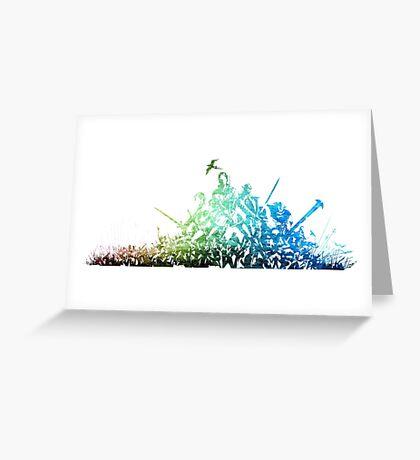 °FINAL FANTASY° Final Fantasy XI Rainbow Logo Greeting Card