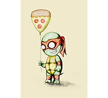 Mikey Pizza Balloon  Photographic Print