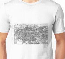 Vintage Pictorial Map of Paris (17th Century)  Unisex T-Shirt