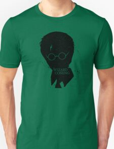 A Wizard Is Coming | Harry Potter | Black T-Shirt