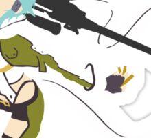 Sinon Minimalistic - Sword Art Online 2  Sticker