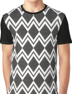 Stylish abstract seamless pattern with black graphic ornament with zigzag and rhombus Graphic T-Shirt