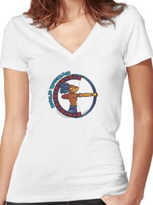 BOLD Woman - Amazon - Sappho Lives! Women's Fitted V-Neck T-Shirt