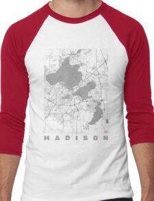 Madison Map Line Men's Baseball ¾ T-Shirt