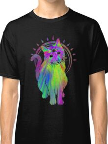Psychic psychedelic trippy cat Classic T-Shirt