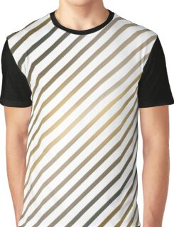 Golden diagonal lines on white background Graphic T-Shirt