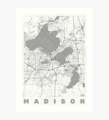 Madison Map Line Art Print