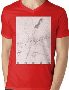 Boras Map Line Mens V-Neck T-Shirt