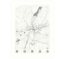 Boras Map Line Art Print