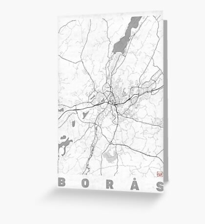 Boras Map Line Greeting Card