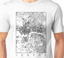 London Map Schwarzplan Only Buildings Urban Plan Unisex T-Shirt