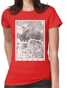 London Map Schwarzplan Only Buildings Urban Plan Womens Fitted T-Shirt