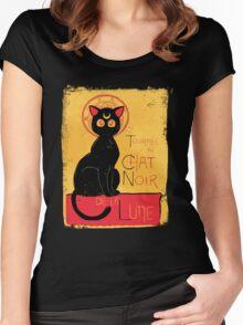 Chat Noir de la Lune - v.2.0 Women's Fitted Scoop T-Shirt