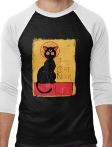 Chat Noir de la Lune - v.2.0 Men's Baseball ¾ T-Shirt
