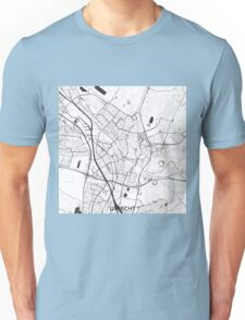Utrecht Map Gray Unisex T-Shirt