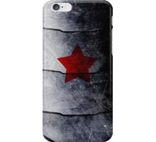 red star on steel iPhone Case/Skin