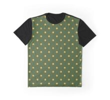 Pattern with golden polka dots on green background Graphic T-Shirt