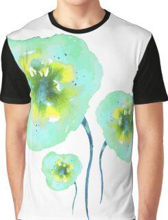 Blue flowers. Graphic T-Shirt