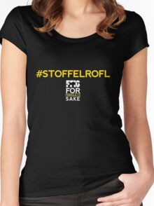 #Stoffelrofl (Black) Women's Fitted Scoop T-Shirt