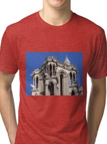Towertop of the cathedral in Laon Tri-blend T-Shirt