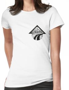 Fineliner mountains Womens Fitted T-Shirt