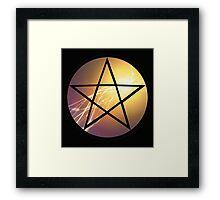 Pentagram Light Framed Print