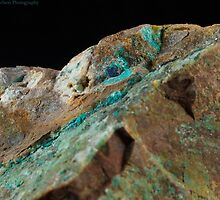 Botryoidal Chrysocolla with Azurite and Malachite by Christopher Carlson