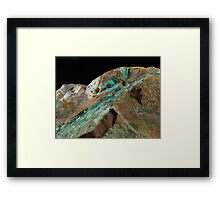 Botryoidal Chrysocolla with Azurite and Malachite Framed Print