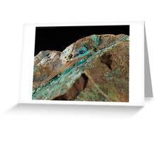 Botryoidal Chrysocolla with Azurite and Malachite Greeting Card