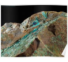 Botryoidal Chrysocolla with Azurite and Malachite Poster
