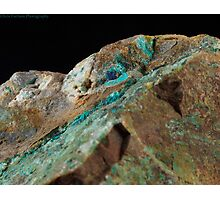 Botryoidal Chrysocolla with Azurite and Malachite Photographic Print