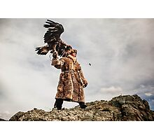 Kazakh Eagle Hunter of Mongolian Altai  Photographic Print