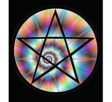Pentagram Rainbow Photographic Print