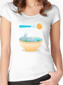 Eat the World Women's Fitted Scoop T-Shirt