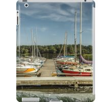 Yacht in water iPad Case/Skin