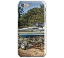 Yacht on the shor iPhone Case/Skin