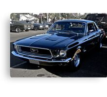 Black Ford Mustang Canvas Print